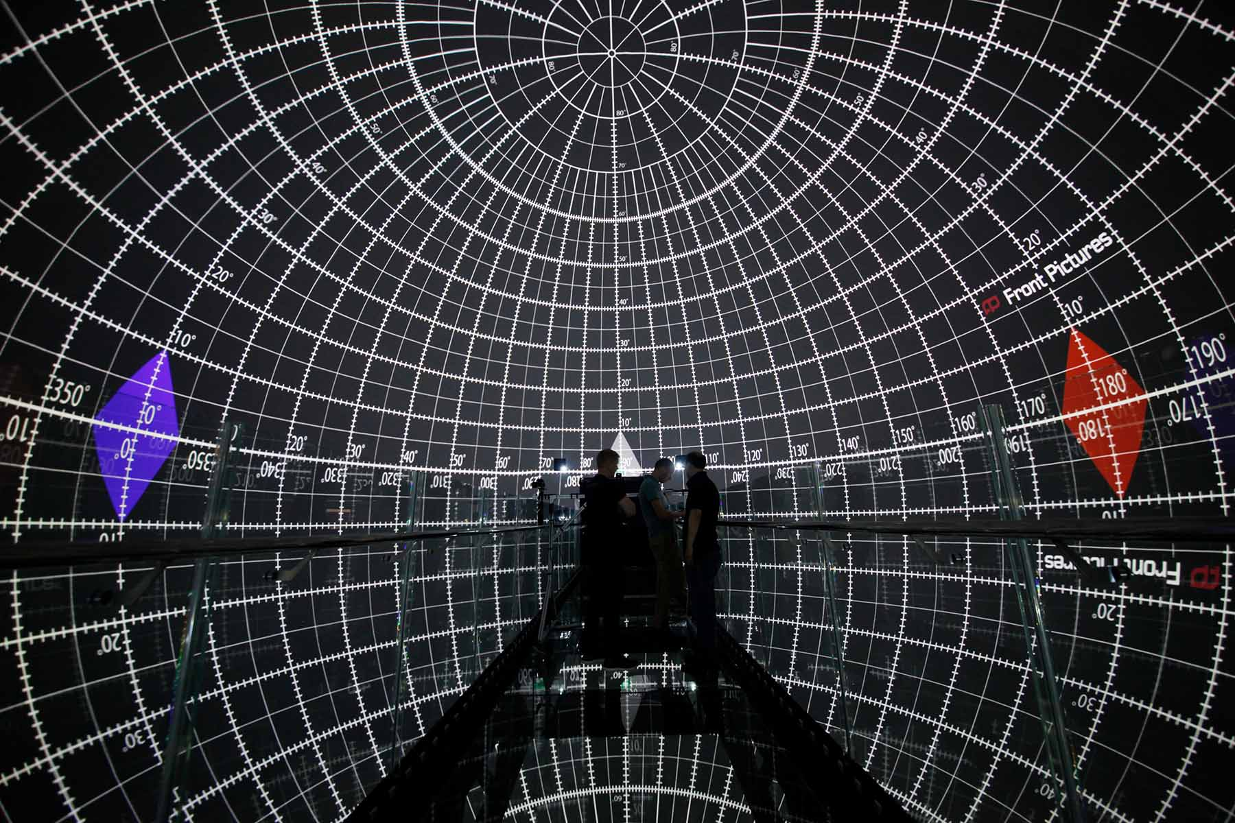 Front Pictures Space 360: spherical projection theater 360